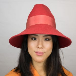 """Vintage"" Westside - women's casual felt fedora hat with grosgrain band"